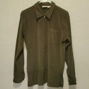 Fashion Bug Olive Green Zip Up Jacket